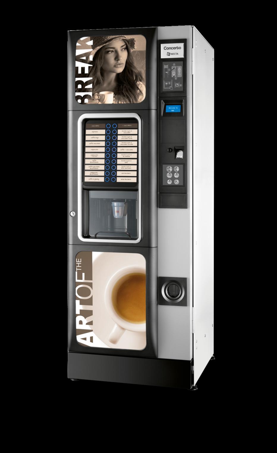 Máquina Vending Café y Bebidas Calientes: CONCERTO